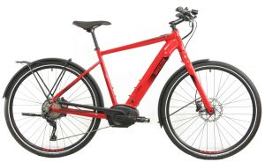 Breezer Powerwolf Evo 2019 E-Bike mit Bosch Performance CX Motor, Color: Red