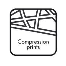 neuartiger Kompressionsaufdruck