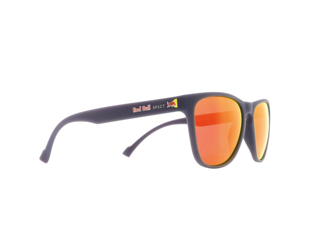 Red Bull Spect Eyeware Spark 003P Sonnenbrille polsarisierend Rahmen: Dunkelblau Matt Gläser: Braun mit Roter Verspiegelung
